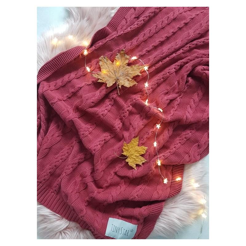 Βρεφική Βαμβακερή Κουβέρτα σε Κερασί